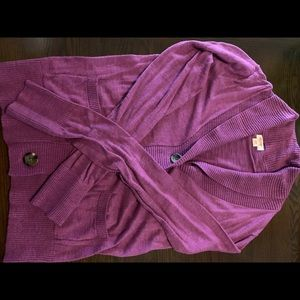 Mossimo purplish cardigan